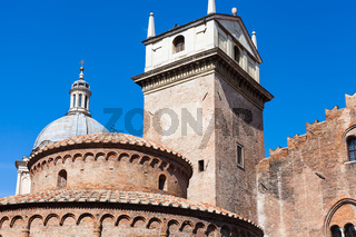 Rotonda di san lorenzo and Clock Tower in Mantua