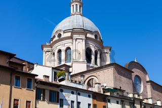 Basilica of Sant'Andrea over urban houses
