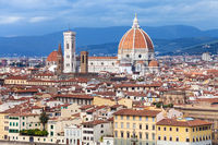 skyline of Florence town with Cathedral