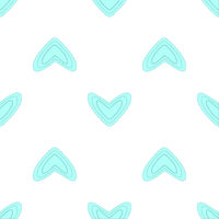 Seamless pattern with blue hearts
