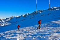 Schneeschuhwanderer am La Dole