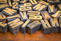 vintage letterpress wood type prinitng blocks