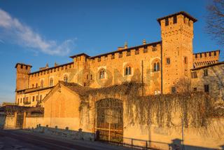 wonderfull Bolognini castle at sunset