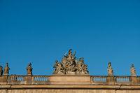 sculptures on historic building in, Berlin