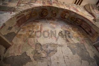 Fresco in the Church of St. Nicholas in Demre, Turkey