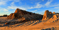 rocky landforms in the outback desert