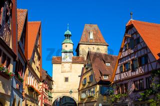 Rothenburg ob der Tauber, Bayern.