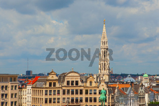 spire of the City hall in Brussels