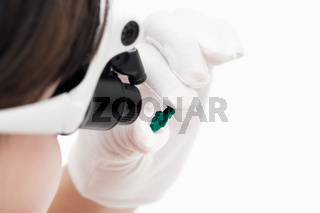 master in head-mounted lens checks dioptase