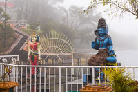 Statues of Shiva and Shakti