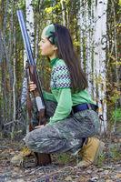 The girl-hunter in ambush