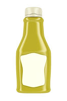 Bottle for mustard or mayonnaise