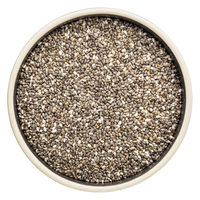 chia seeds in isolated bowl