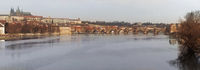 River and Charles Bridge