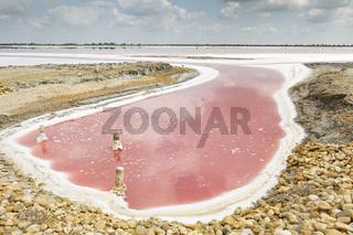 Salzgewinnung in der Camargue, Südfrankreich