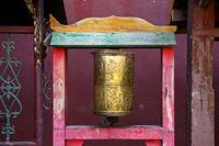 Buddhistische Gebetsmühle im Gandan-Kloster