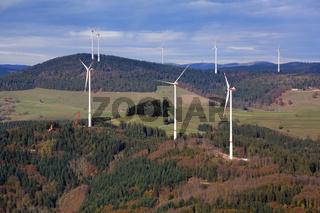 Windpark Glaserkopf in Hasel und Rohrenkopf in Gersbach, Südschwarzwald