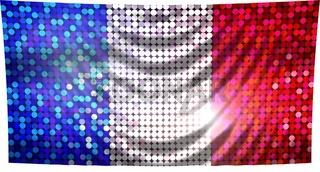 glitzernde pailetten flagge frankreich