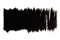 Black brush strokes with indents