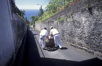EUROPE PORTUGAL MADEIRA FUNCHAL BASKET SLEDGE