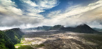Mount Bromo with active volcano. Java, Indonesia