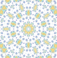 Abstract color pattern on white