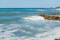 High waves and in Istria, Croatia