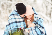 Checkered plaid and couple