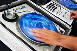 DJ spinning records