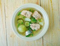 Russian fish solyanka soup