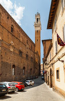 The streets of Siena lead to Piazza del Campo. Italy