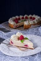 fresh and delicious raspberry cream pie