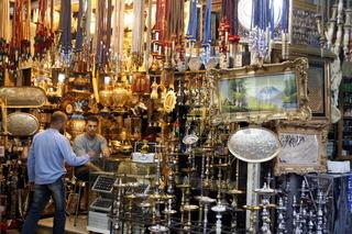 Der Souq oder Markt im Zentrum in der Jordanieschen Hauptstadt Amman