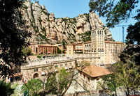 The Benedictine abbey of Santa Maria de Montserrat, Catalonia. Spain