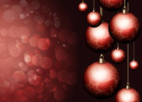 Happy Holiday Red Christmas Background