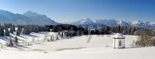 Winterlandschaft in Bayern im Allgäu