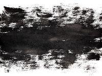 Bold black stripe of brush strokes