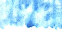 Blue watercolor strokes wirh edge