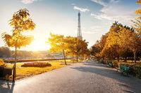 Park near the Eiffel Tower