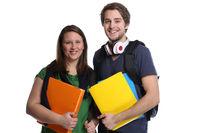 Studenten Studium lachen Jugendliche Freisteller
