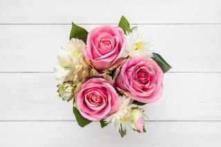 Decoration artificial flower,top view
