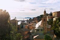 Ancient architecture of Italy, region Liguria. Province of Genoa