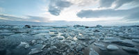 Icelandic landscape of icy sea surface