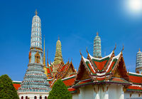Wat Phra Keaw, Grand palace, main tourist atraction in Bangkok, Thailand