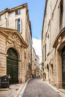 Streets of Montpellier in a summer day