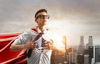 Business super hero