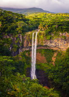 Awesome landscape of Chamarel waterfall