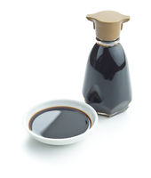 Soy sauce in bowl.