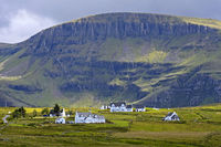 Kilmaluag township at the foot of mount Sgurr Mor, Isle of Skye, Scotland, Great Britain