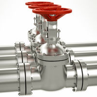 3d metal gas pipe line valves